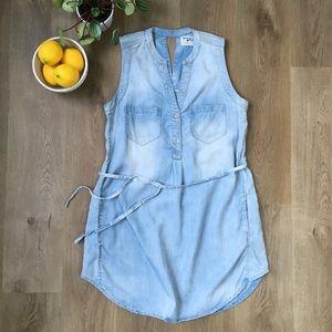 Anthropologie Dresses - Holding Horses Light Blue Denim Sleeveless Dress